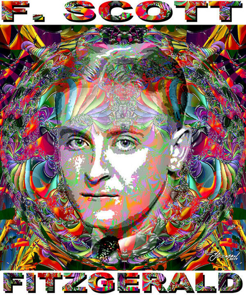 F. Scott Fitzgerald Tribute T-Shirt or Poster Print by Ed Seeman
