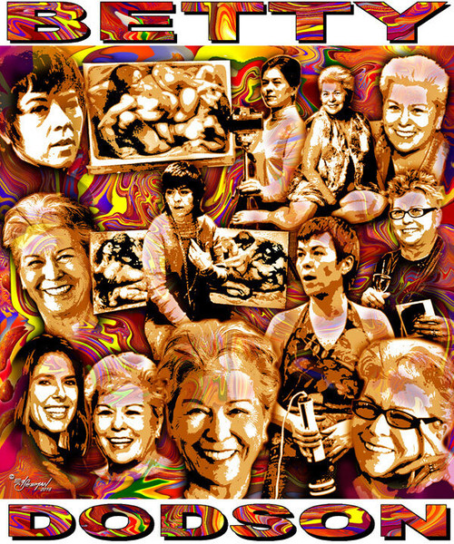 Betty Dodson Tribute T-Shirt or Poster Print by Ed Seeman