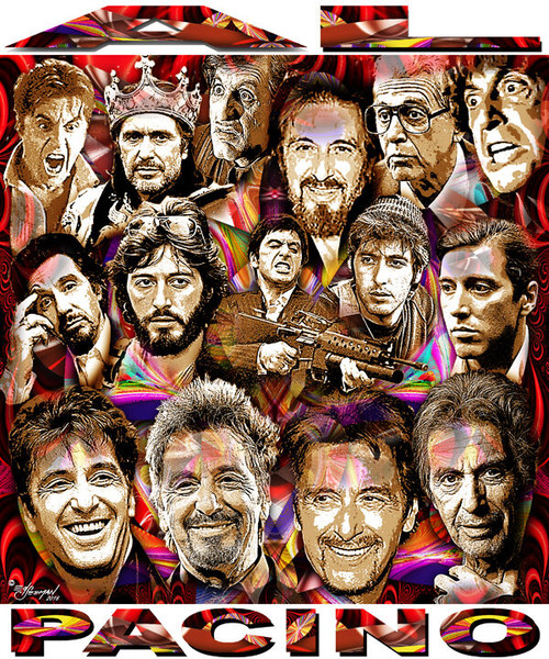 Al Pacino Tribute T-Shirt or Poster Print by Ed Seeman