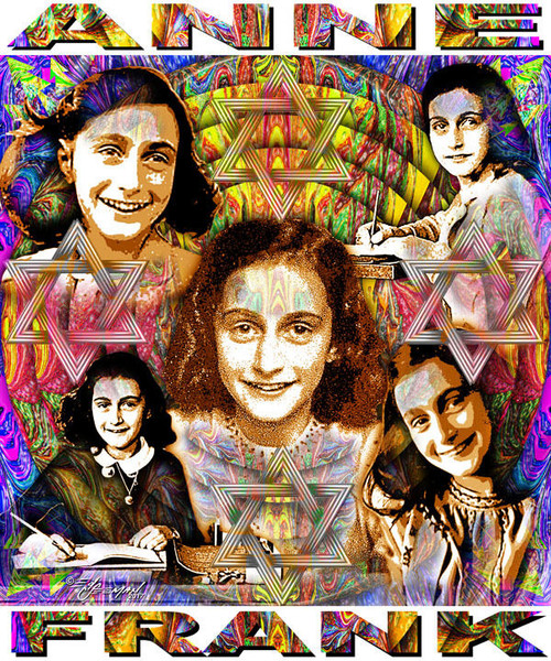 Anne Frank Tribute T-Shirt or Poster Print by Ed Seeman
