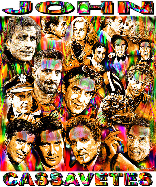 John Cassavetes Tribute T-Shirt or Poster Print by Ed Seeman