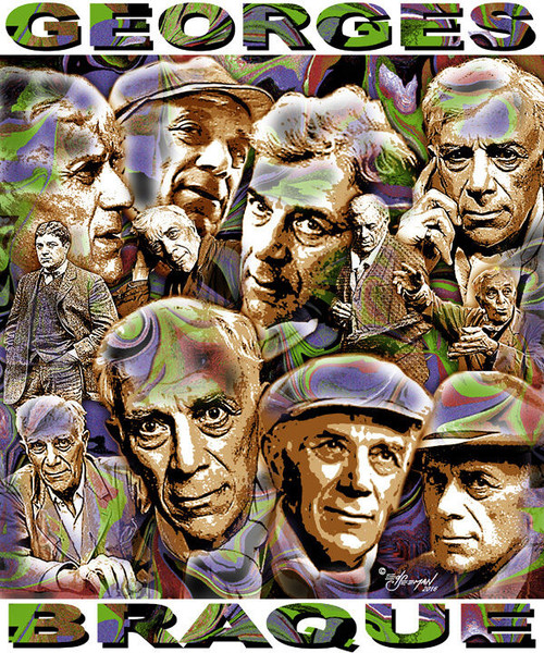 George Braque Tribute T-Shirt or Poster Print by Ed Seeman