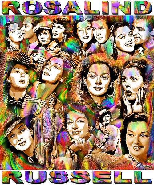 Rosalind Russell Tribute T-Shirt or Poster Print by Ed Seeman