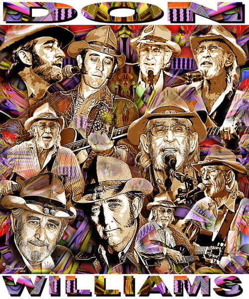 Don Williams Tribute T-Shirt or Poster Print by Ed Seeman