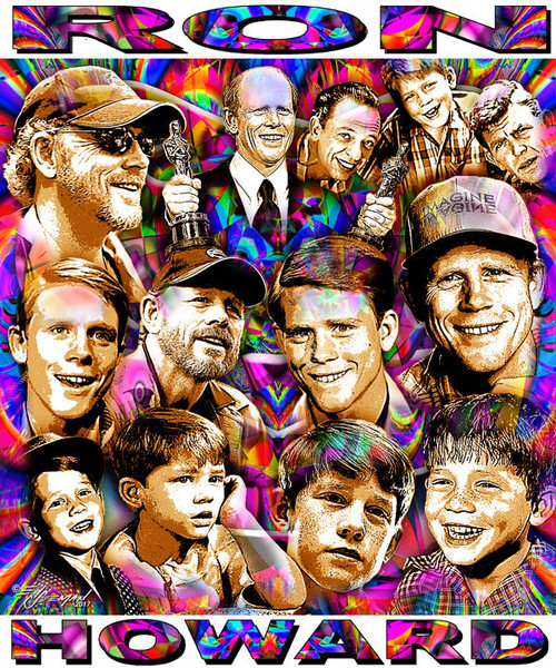 Ron Howard Tribute T-Shirt or Poster Print by Ed Seeman