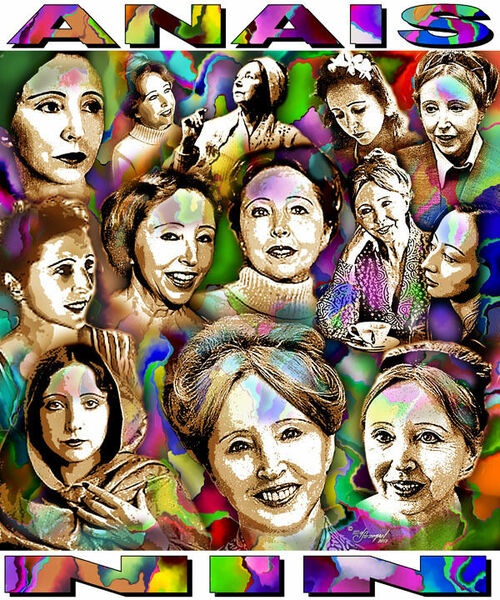 Anais Nin Tribute T-Shirt or Poster Print by Ed Seeman