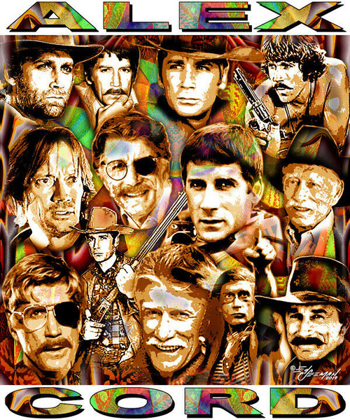 Alex Cord Tribute T-Shirt or Poster Print by Ed Seeman