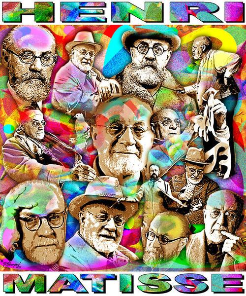 Henri Matisse Tribute T-Shirt or Poster Print by Ed Seeman