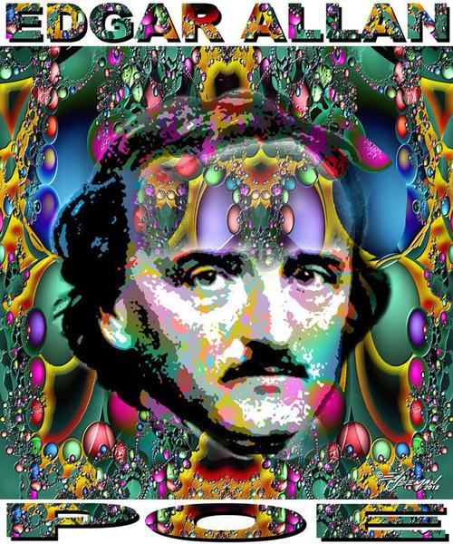 Edgar Allan Poe Tribute T-Shirt or Poster Print by Ed Seeman