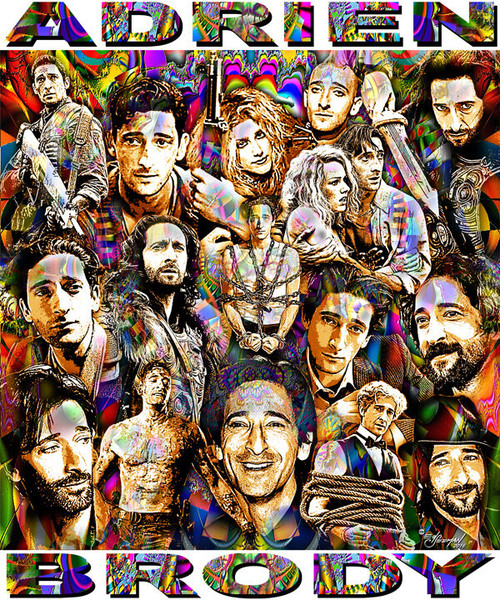 Adrien Brody Tribute T-Shirt or Poster Print by Ed Seeman