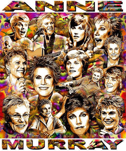Anne Murray Tribute T-Shirt or Poster Print by Ed Seeman