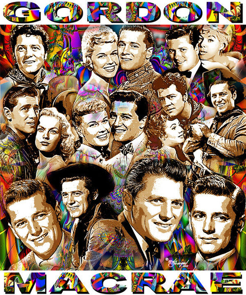 Gordon Macrae Tribute T-Shirt or Poster Print by Ed Seeman