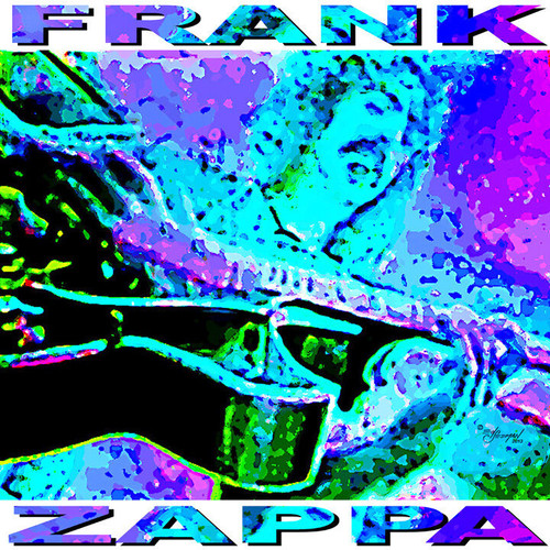 Frank Zappa Digital Painting Tribute T-Shirt or Poster Print by Ed Seeman