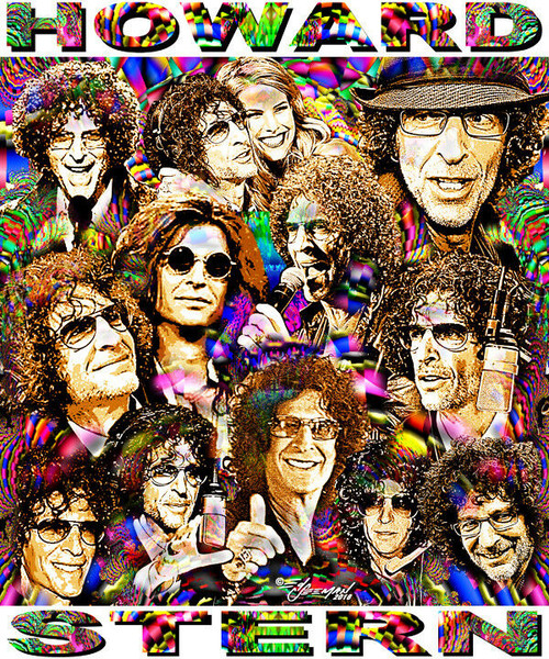 Howard Stern Tribute T-Shirt or Poster Print by Ed Seeman