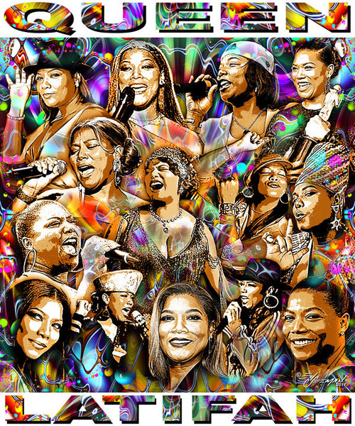 Queen Latifah Tribute T-Shirt or Poster Print by Ed Seeman