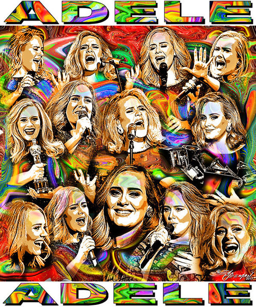 Adele Tribute T-Shirt or Poster Print by Ed Seeman