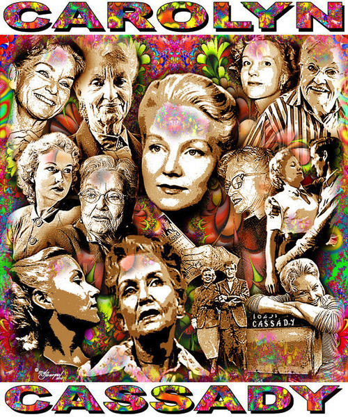 Carolyn Cassady Tribute T-Shirt or Poster Print by Ed Seeman