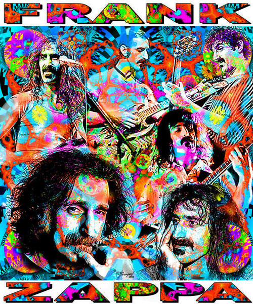Frank Zappa Tribute T-Shirt or Poster Print by Ed Seeman