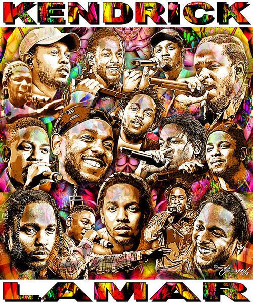 Kendrick Lamar Tribute T-Shirt or Poster Print by Ed Seeman