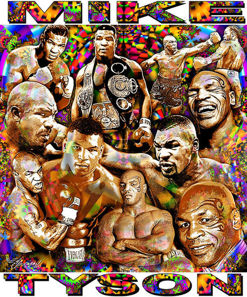 Mike Tyson Tribute T-Shirt or Poster Print by Ed Seeman