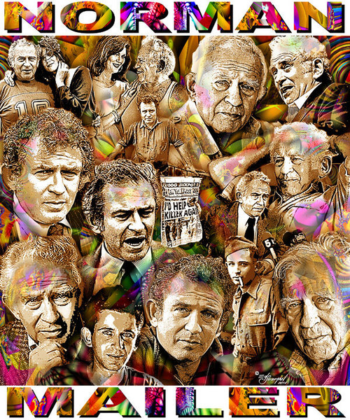 Norman Mailer Tribute T-Shirt or Poster Print by Ed Seeman