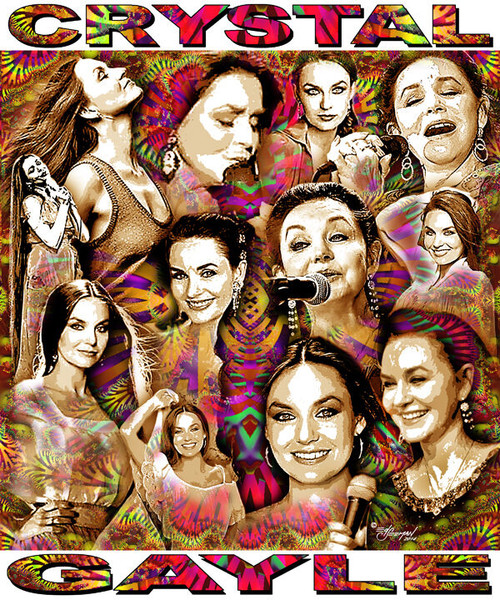 Crystal Gayle Tribute T-Shirt or Poster Print by Ed Seeman