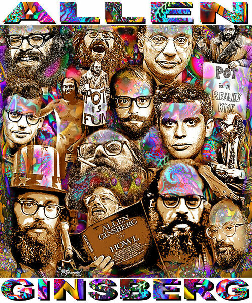Allen Ginsberg Tribute T-Shirt or Poster Print by Ed Seeman