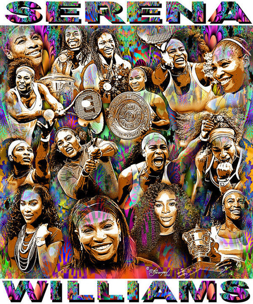Serena Williams Tribute T-Shirt or Poster Print by Ed Seeman