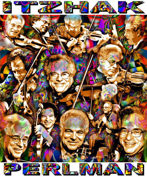 Itzhak Perlman Tribute T-Shirt or Poster Print by Ed Seeman
