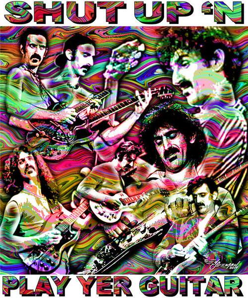 Shut Up 'N Play Yer Guitar Tribute T-Shirt or Poster Print by Ed Seeman
