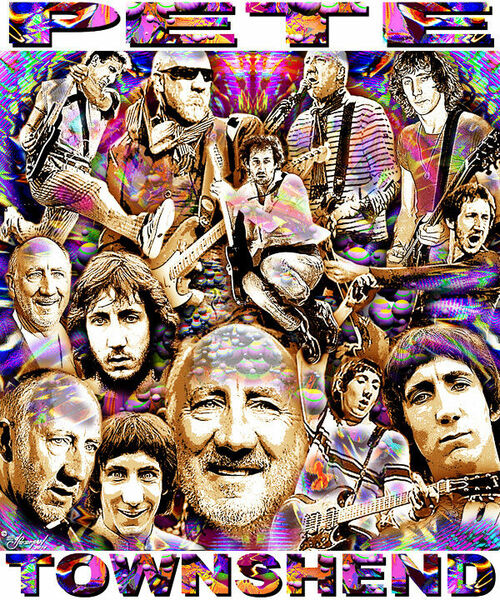 Pete Townshend Tribute T-Shirt or Poster Print by Ed Seeman