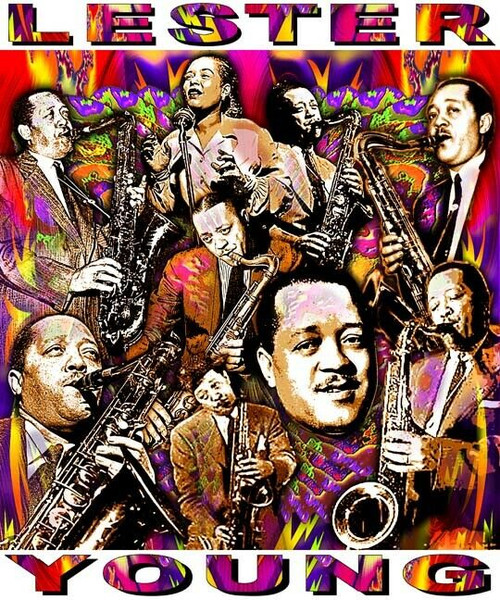 Lester Young Tribute T-Shirt or Poster Print by Ed Seeman