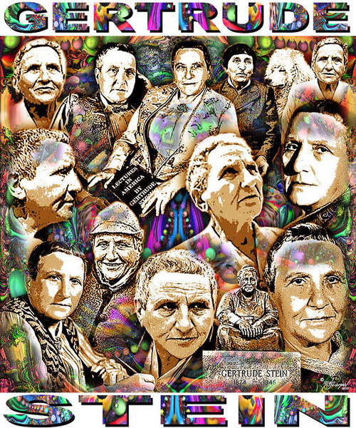 Gertrude Stein Tribute T-Shirt or Poster Print by Ed Seeman