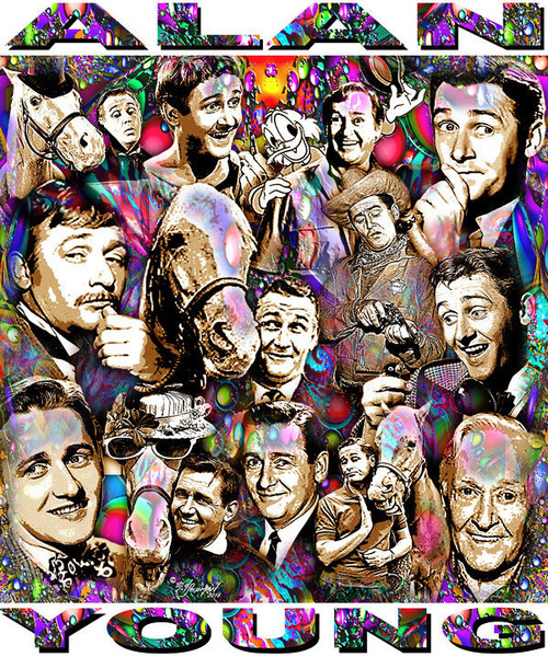 Alan Young Tribute T-Shirt or Poster Print by Ed Seeman
