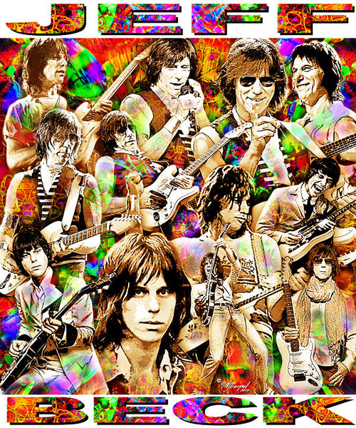 Jeff Beck Tribute T-Shirt or Poster Print by Ed Seeman