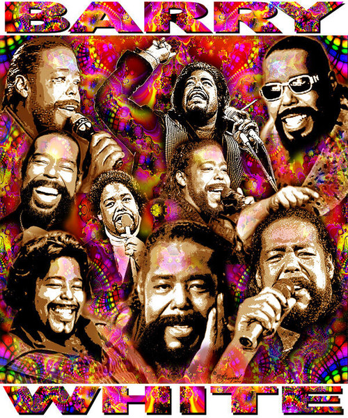 Barry White Tribute T-Shirt or Poster Print by Ed Seeman