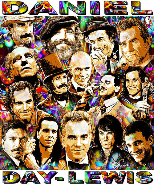 Daniel Day-Lewis Tribute T-Shirt or Poster Print by Ed Seeman