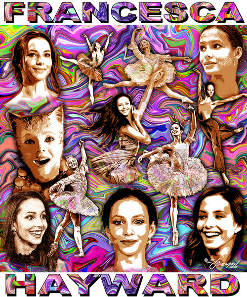 Francesca Hayward Tribute T-Shirt or Poster Print bu Ed Seeman