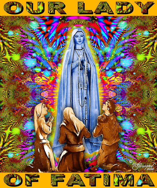 Our Lady of Fatima T-Shirt or Poster by Ed Seeman