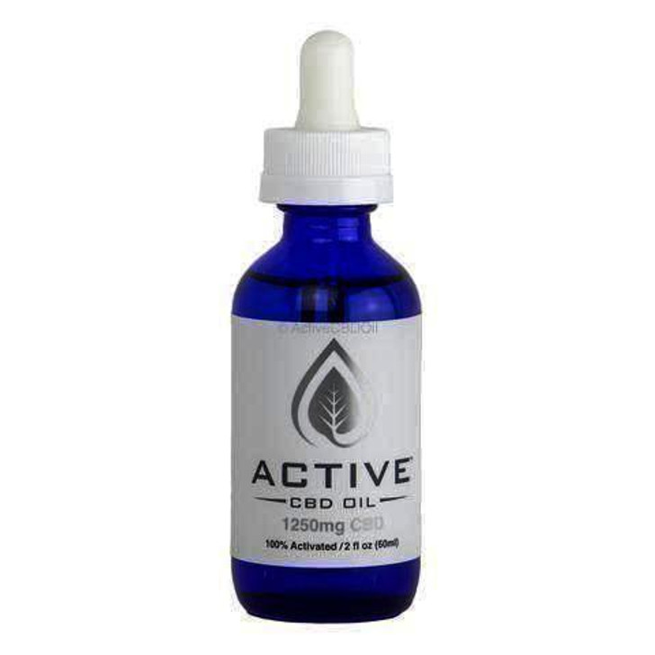 'Active CBD Oil' CBD/MCT Tincture 1250-2500mg