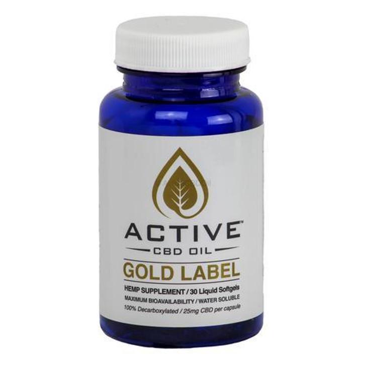 'Active CBD Oil' Capsules - 30ct or 60ct