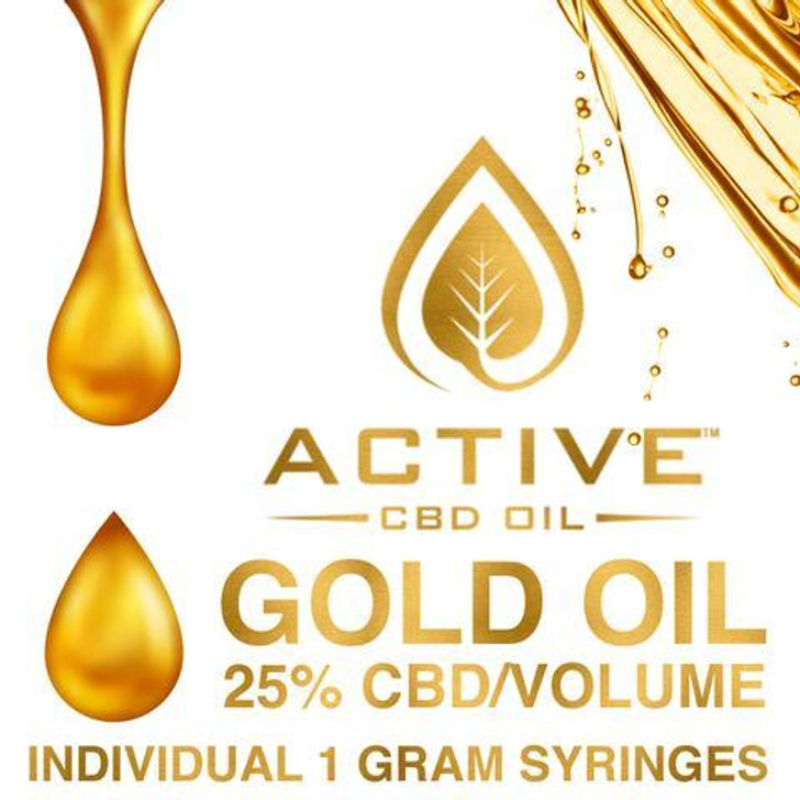 'Active CBD oil' - Gold 25%