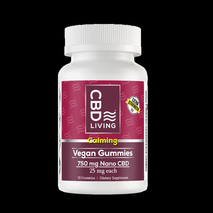 CBD Living - Extra Strength Vegan Gummies - 750mg