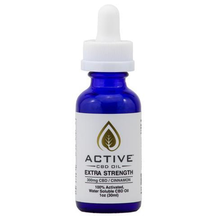 Active CBD oil tincture - Water Soluble - Cinnamon