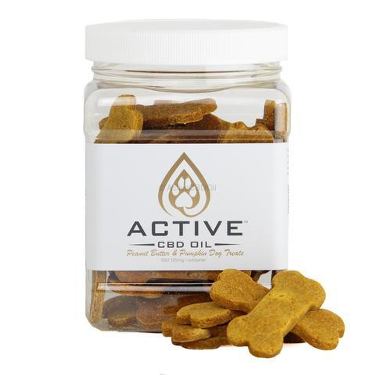 Active CBD oil dog biscuits - 2.5mg Organic & Gluten/Soy Free