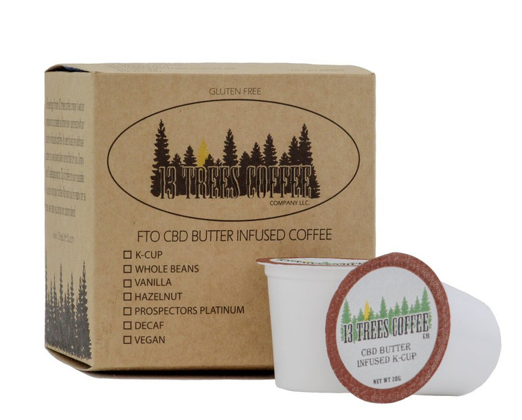 NEW! CBD Infused K-Cup Butter Roasted Coffee (8 per)