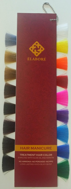 Elabore Hair Manicure Color Chart