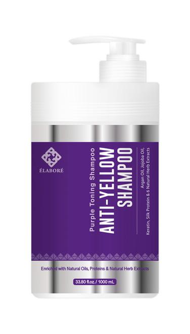 Elabore Purple Toning Shampoo - Anti Yellow Shampoo 33.80fl.oz/ 1000ml