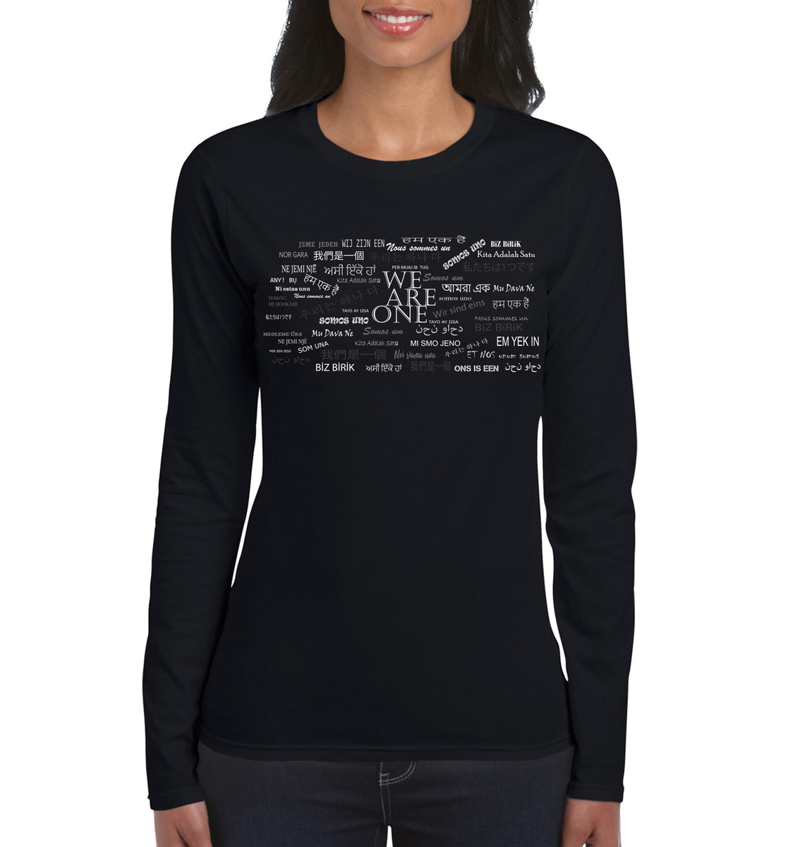 We are One Somos Uno Long Sleeve T-Shirt