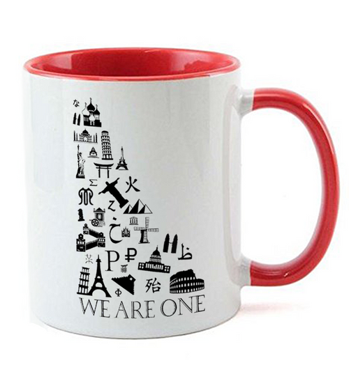 "11-Ounce Ceramic Mug 3.75"" H and 11-oz capacity."